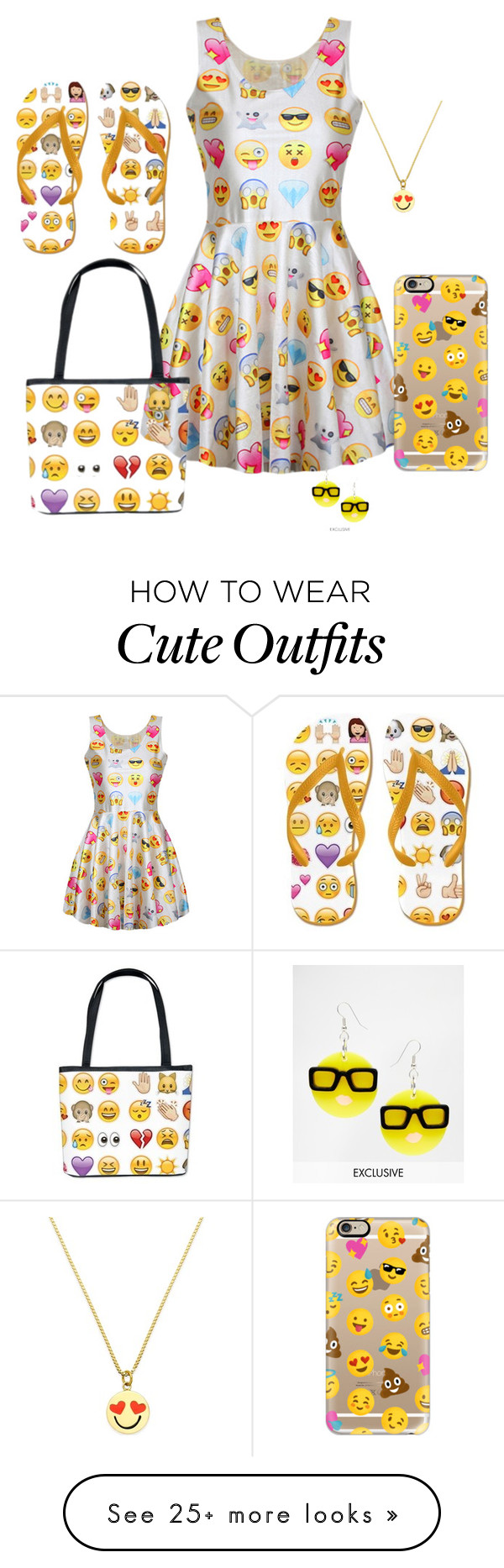 Emoji Outfit 2 By Beyzaalp On Polyvore Featuring Casetify Kate Petite Cupcakes Demmy Pants Spade And Tatty Devine