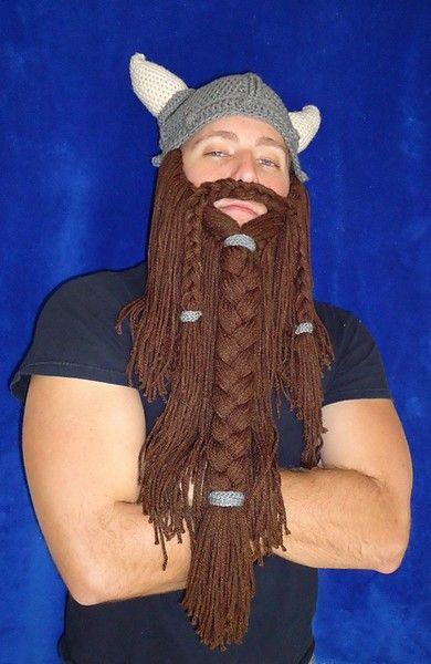 Free Crochet Viking Beard Pattern Too Funny Hookn