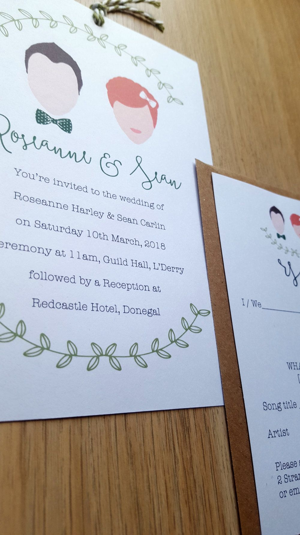 You & Them Portrait Invitation Template by Creative Wedding Company ...