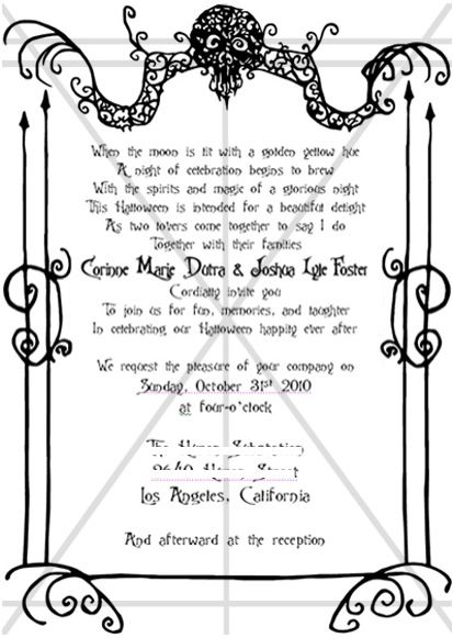 The spookiest creepiest wedding invitations youll ever see the spookiest creepiest wedding invitations youll ever see offbeat bride stopboris Image collections