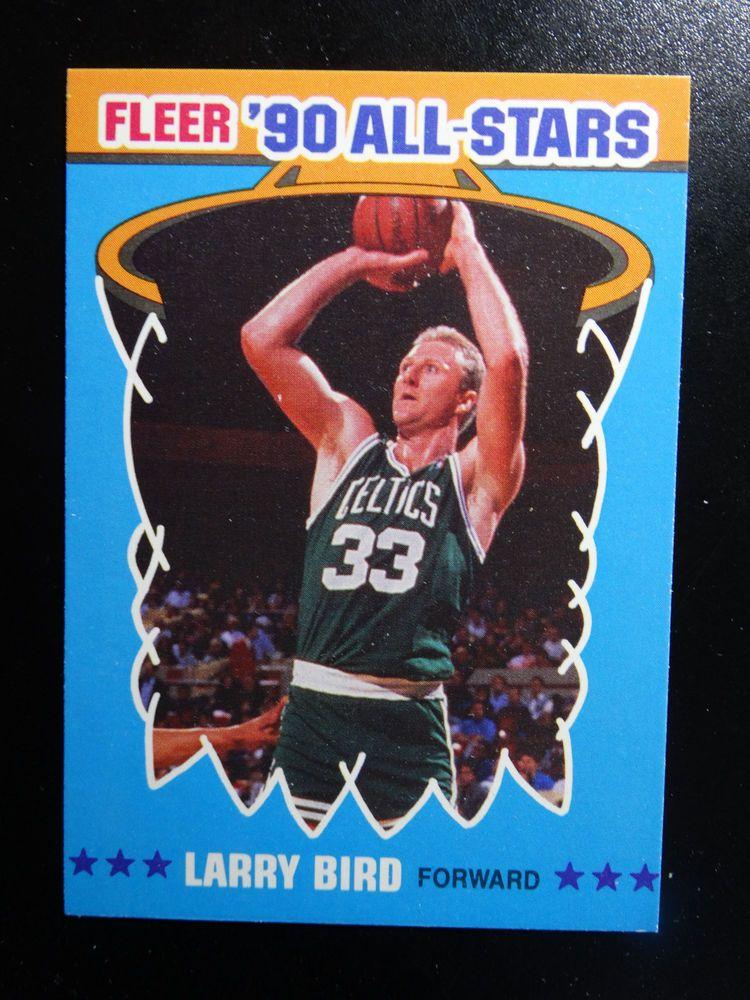 199091 fleer 2 larry bird boston celtics basketball card