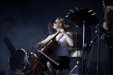 Cellist for Jherek Bischoff. Copyright Kparphoto. Follow me on twitter, instagram, and facebook @Kirsten Wehrenberg-Klee Pardun http://www.kparphoto.com