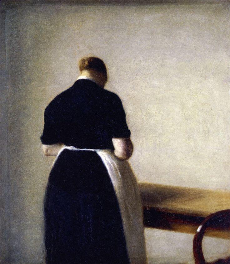 "Figure of a Woman, Vilhelm Hammershøi """