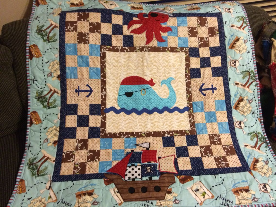 was special quilting little quilt pin very a this baby our made man in pirate for