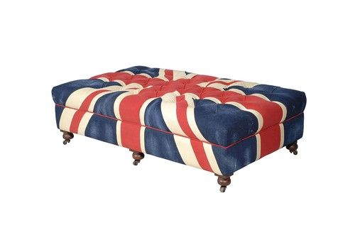 Restoration Hardware Union Jack Bensington Ottoman