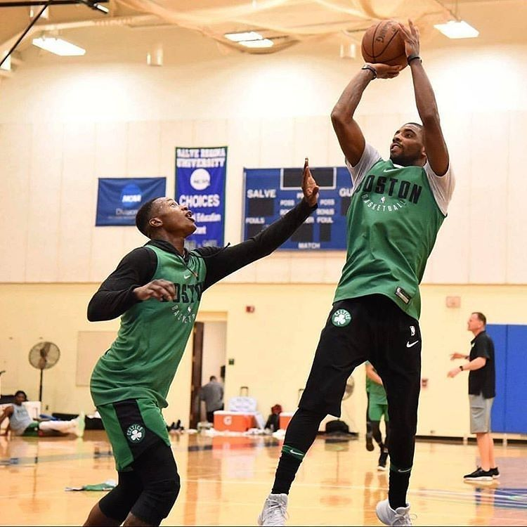 a701c0f25ddc LISTEN THE NBA LISTEN THE RADIO — regram  basketballforever Kyrie Irving  working.
