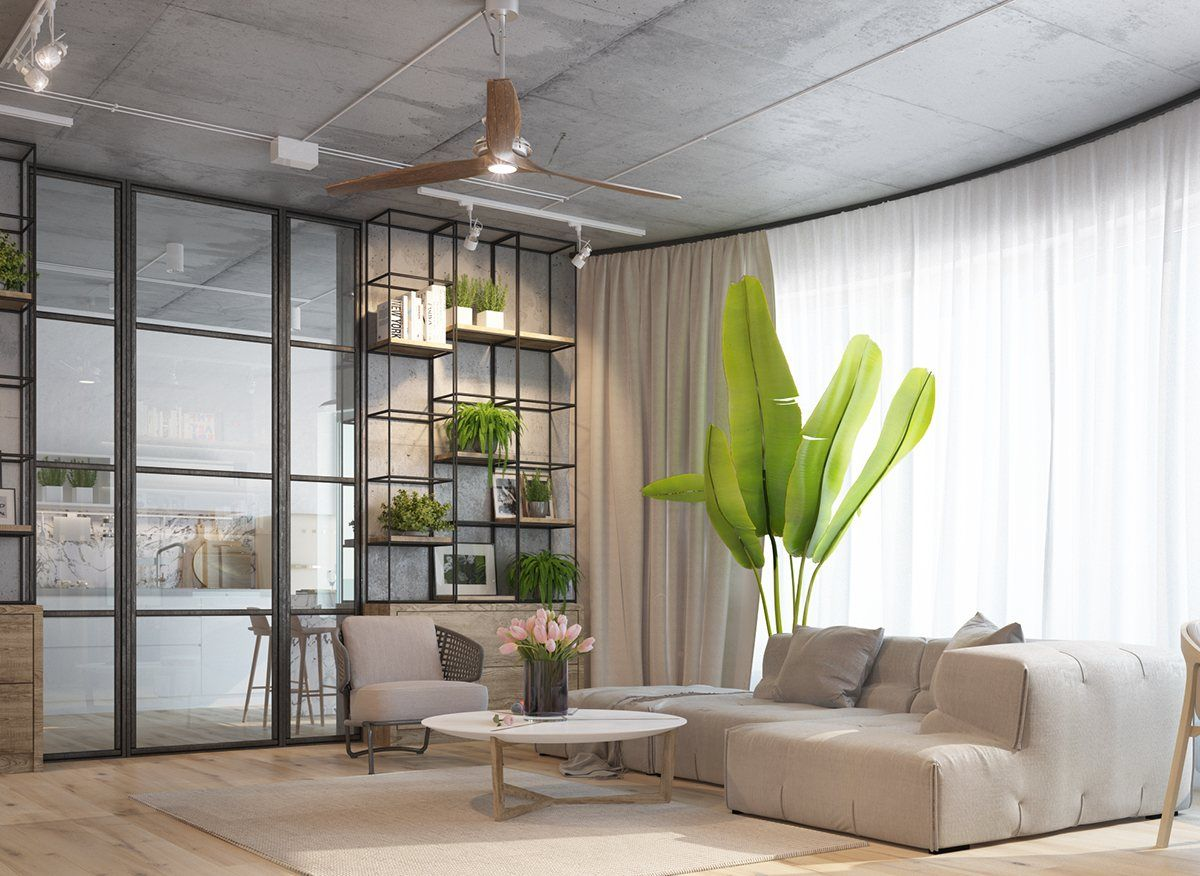 3 Inspiring Homes With Concrete Ceilings And Wood Floors Concrete Ceiling Concrete Interiors Latest Living Room Designs