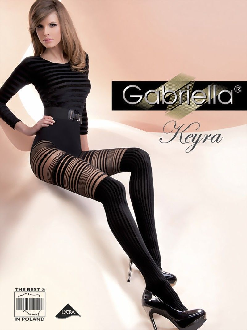 GABRIELLA Luxury 20 Denier Sheer Patterned Tights With Lycra