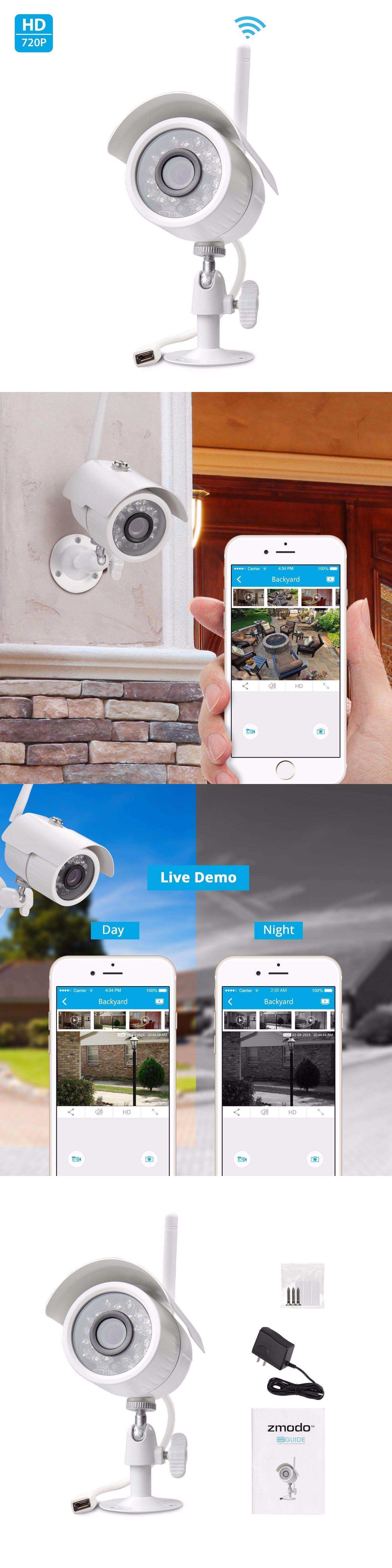 surveillance security systems zmodo 720p hd ip network wireless