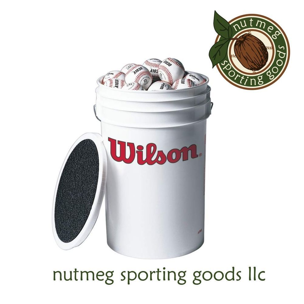 Great deal on a bucket of baseballs free shipping
