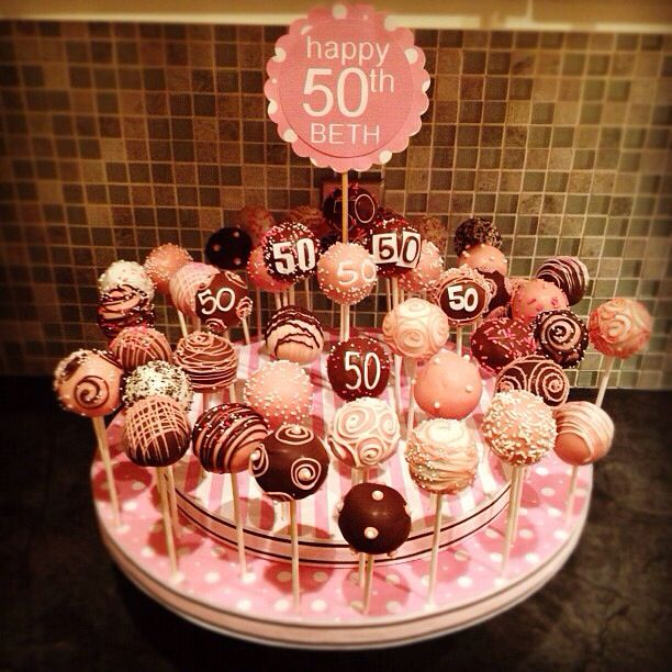 Admirable 50Th Birthday Cakepops 50Th Birthday Cupcakes Moms 50Th Funny Birthday Cards Online Chimdamsfinfo