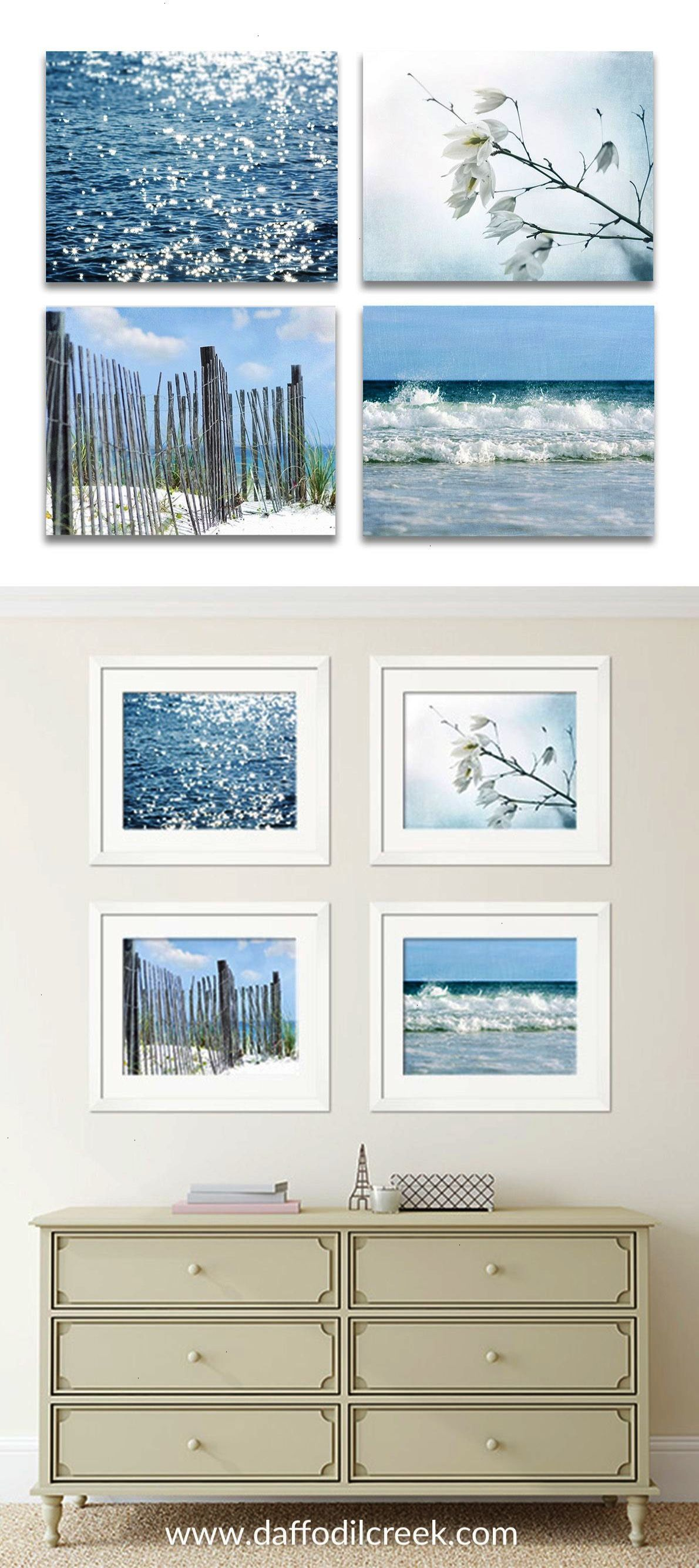 Rustic Coastal Gallery Wall  Beach Cottage Wall D Cor