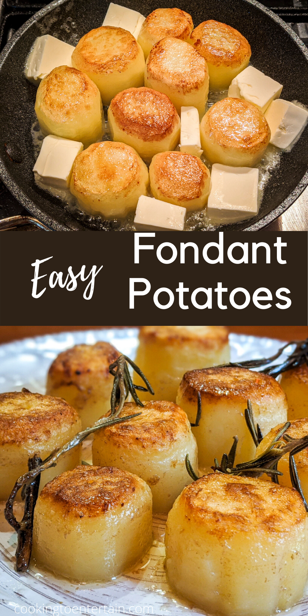 Fondant Potatoes Easy Step By Step Instructions For Decadent Potatoes Recipe Fondant Potatoes Dinner Party Recipes Recipes