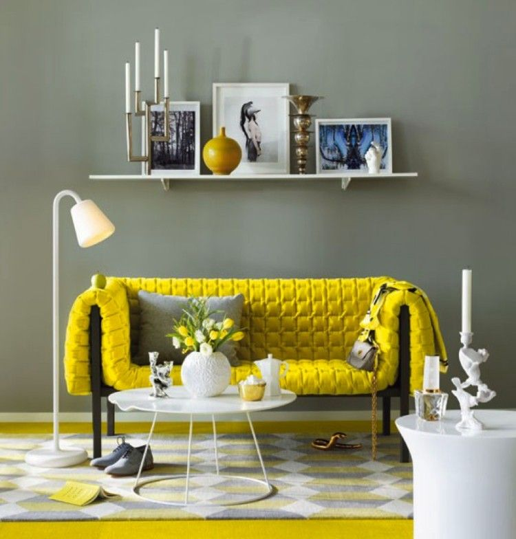 D co salon moderne et chic invitez la couleur grise design chic et interieur - Design interieur contemporain ...