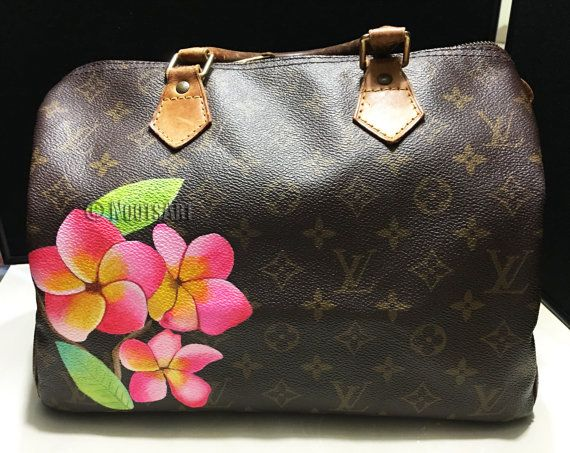 Custom Handpainted Louis Vuitton Speedy Customer Provides The