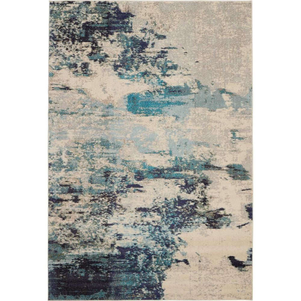 Photo of Nourison Celestial Sealife 7 ft. X 10 ft. Bereich Rug-362247 – The Home Depot