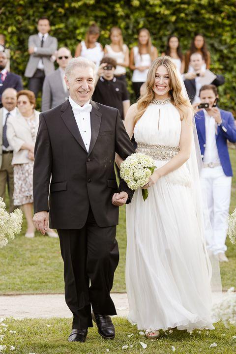 O casamento da Andrea e do Jean-Philippe no Douro. #casamento #Portugal #cerimoniacivil #noiva #paidanoiva