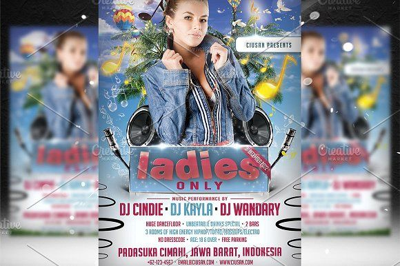 Ladies Only Flyer Template Templates Ladies Only Flyer Template Features Size 1275x1875px 4x6 Bleeds 0 25 Fully Editab By Ciusan Lades