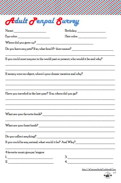 Penpal Survey For Adults Penpal Pen Pal Letters Snail Mail Pen Pals