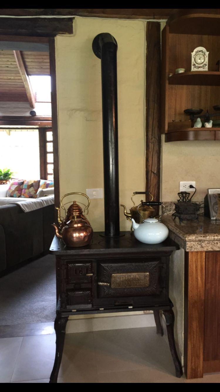 Cocina a le a antigua decorativa ideas chimeneas estufas - Cocinas de lena ...