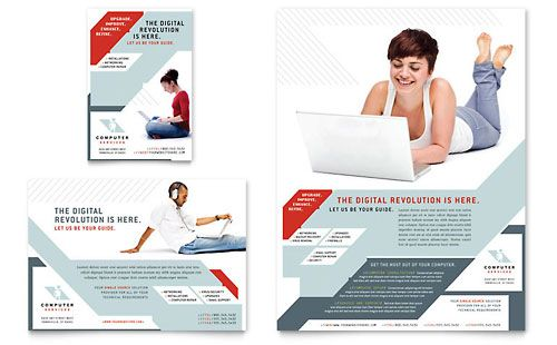 Technology Consulting \ IT Flyer \ Ad Template Design - microsoft word tri fold brochure