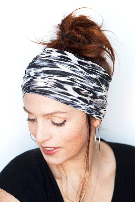 ecf574f09552 Leopard Headband Tube Headband Leopard Head Wrap Womens