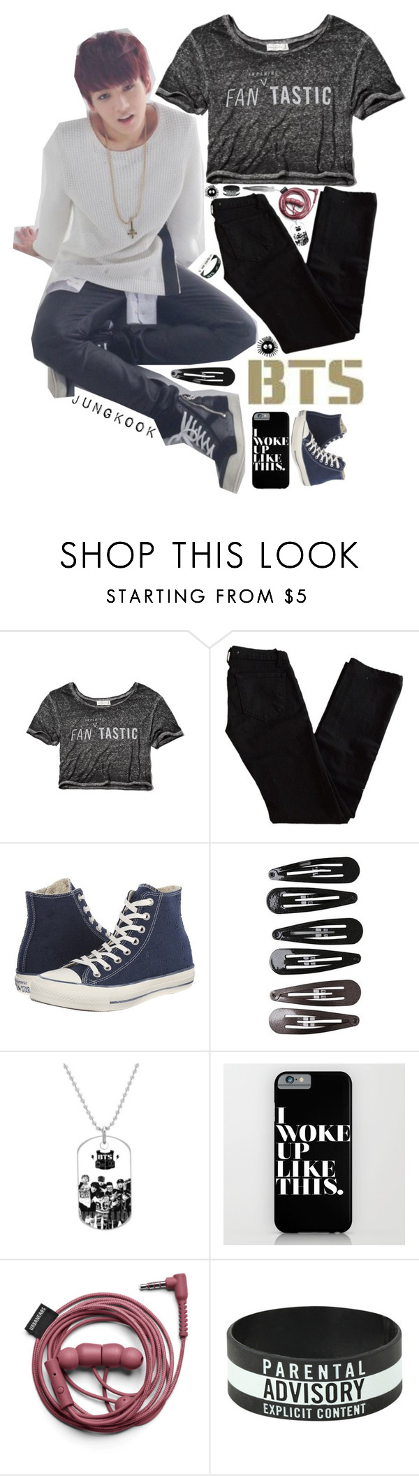 """jungkook ♥"" by highlandchild ❤ liked on Polyvore featuring Abercrombie & Fitch, J Brand, Converse, Clips, Retrò, kpop, bts, BangtanBoys and jungkook"
