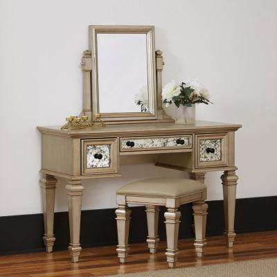 Visions 2-Piece Silver Gold Champagne Vanity Set You\u0027re So Vain