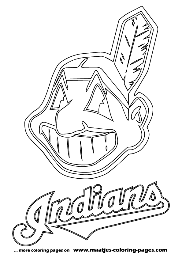 Cleveland Indians Logo Coloring Pages Baseball Pinterest
