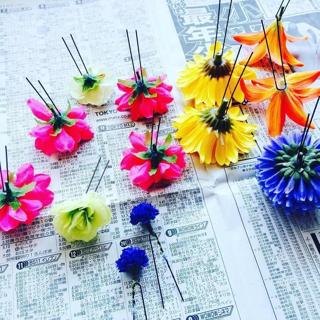 100均の造花で出来る髪飾り フラワーパーツの作り方 Marry マリー 造花 髪飾り 造花 結婚式 装飾