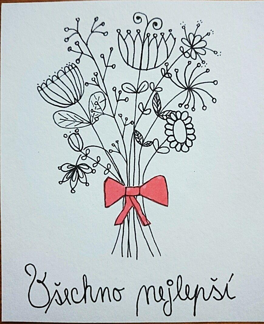 kreslené přání k narozeninám Ručně kreslené přání k narozeninám 😊 | Přáníčka | Pinterest kreslené přání k narozeninám
