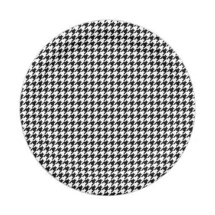 Black and White Houndstooth Holiday Paper Plates - merry christmas diy xmas present gift idea family  sc 1 st  Pinterest & Black and White Houndstooth Holiday Paper Plates - merry christmas ...