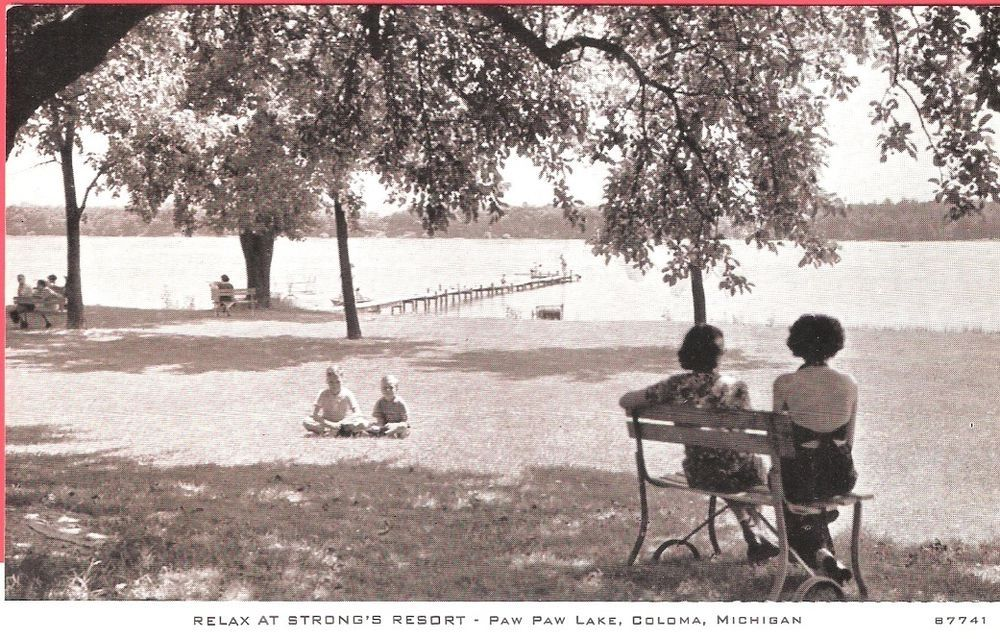 """""""Relax at Strong's Resort"""" Paw Paw Lake, Coloma"""