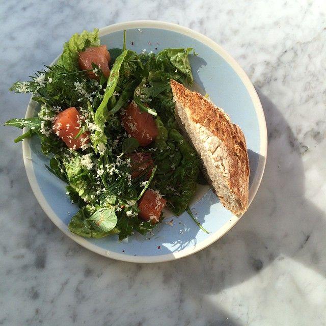 smoked salmon, herb salad & horseradish |  atelier september.
