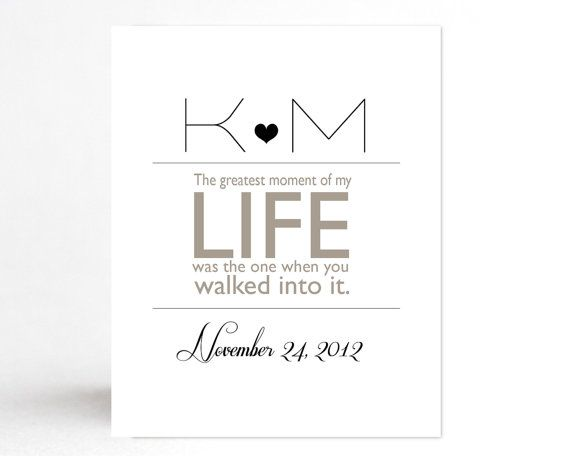 The Greatest Moment Personalized Anniversary Engagement Wedding Gift Elegant Customizable Home Decor For