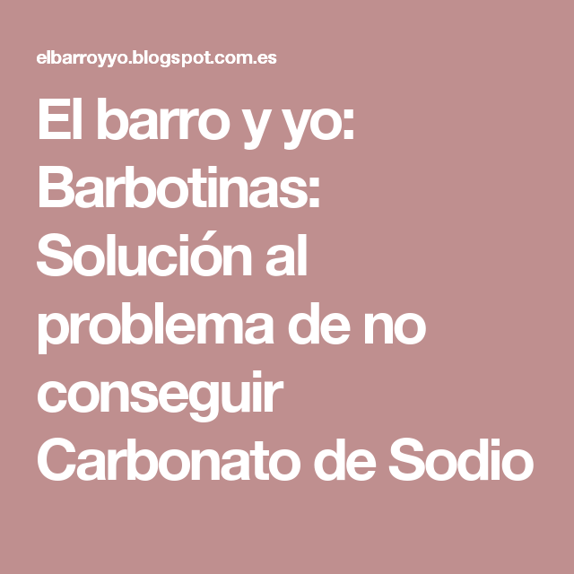 Consigue Carbonato De Sodio Con Bicarbonato De Sodio