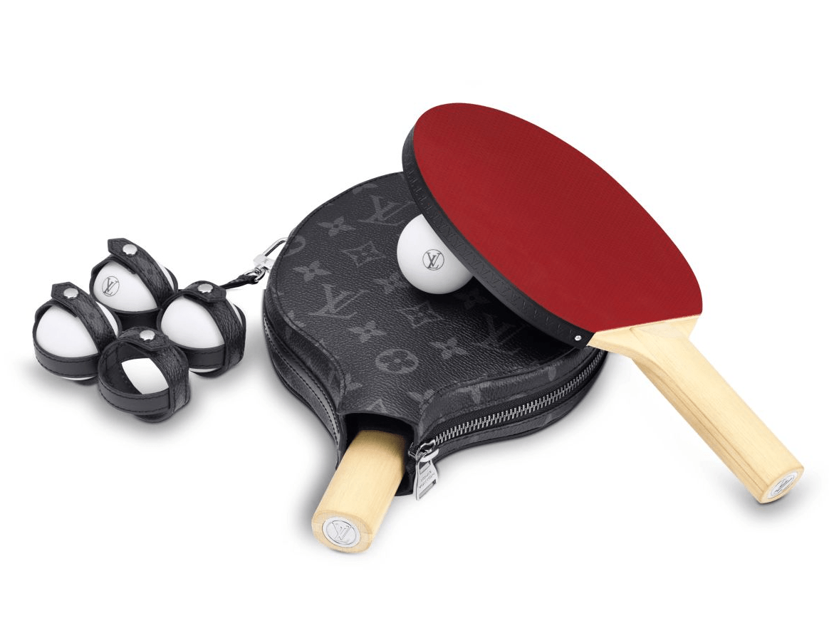 Hilariously Over The Top Christmas Gift Louis Vuitton Ping Pong Paddles And Ball Set 2 200 Ping Pong Ping Pong Paddles Louis Vuitton