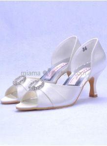 Scarpe Sposa Online Economiche.Peep Toe Satin Rubber Sole Wedding Shoes Scarpe Bianche Scarpe