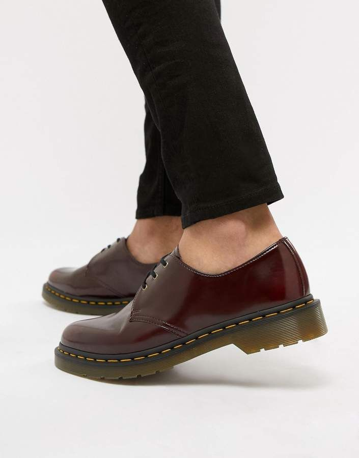Dr Martens 1461 Vegan 3 Eye Shoes In Red Doc Martens Boots Army Boots Dr Martens