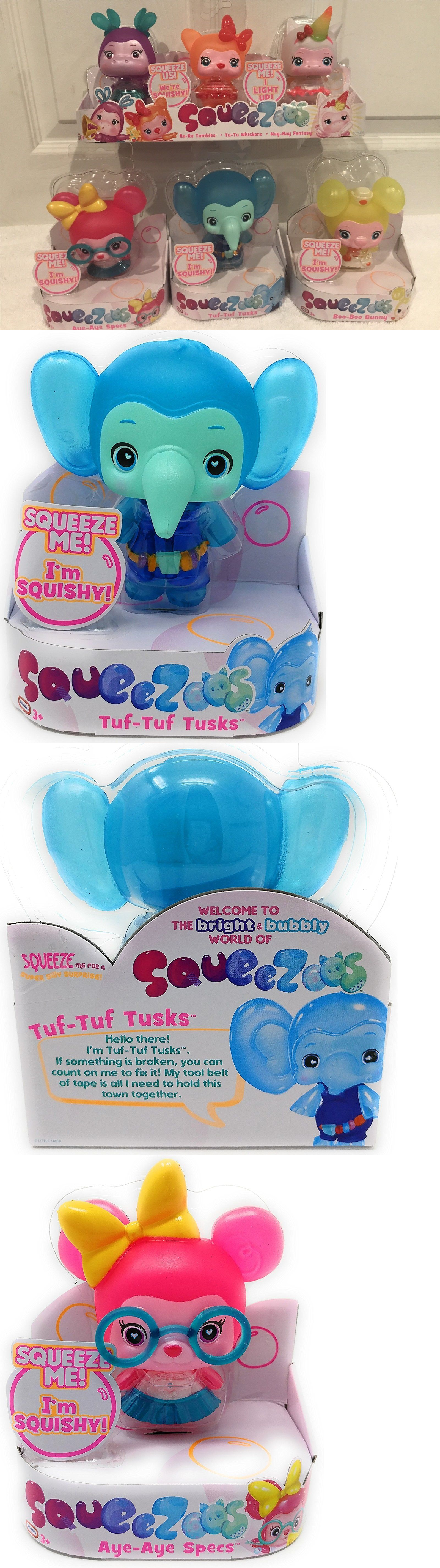child size 2574 little tikes squeezoos complete set 6 small