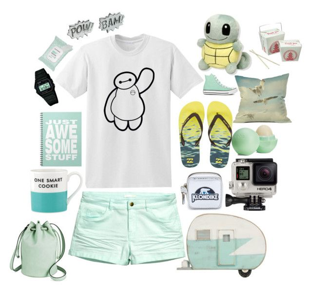 """Jamie Stanton"" by twistedvine ❤ liked on Polyvore featuring DENY Designs, Billabong, H&M, Edge Only, Dot & Bo, Kate Spade, Converse, Casio, GoPro and Sephora Collection"