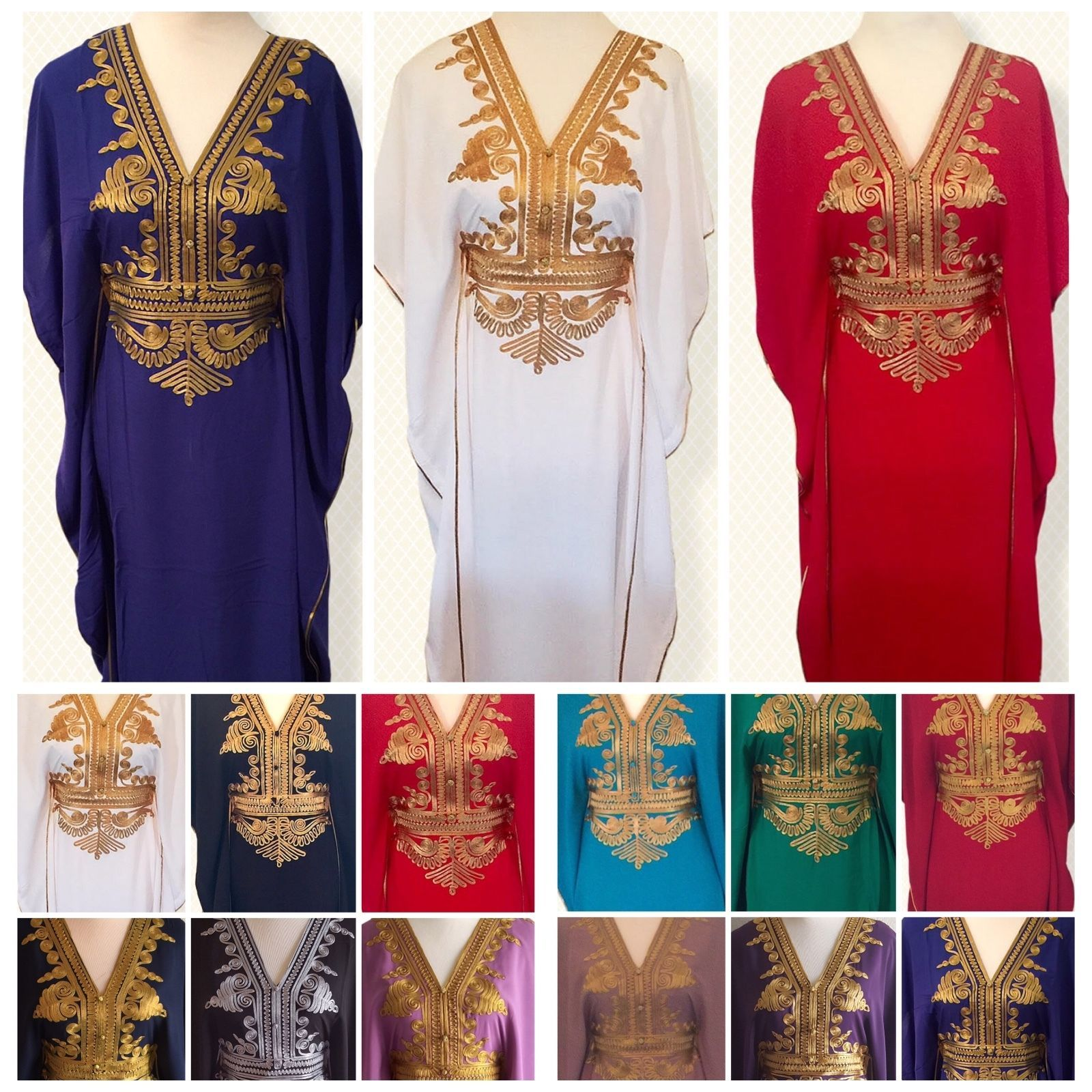 Moroccan kaftan Embroidery Batwing Maxi Dress Dubai Sexy Abaya one size 694228fa68f