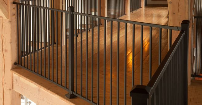 Fortress railing rdi lovely vinyl porch and deck railing for Fortress fence design