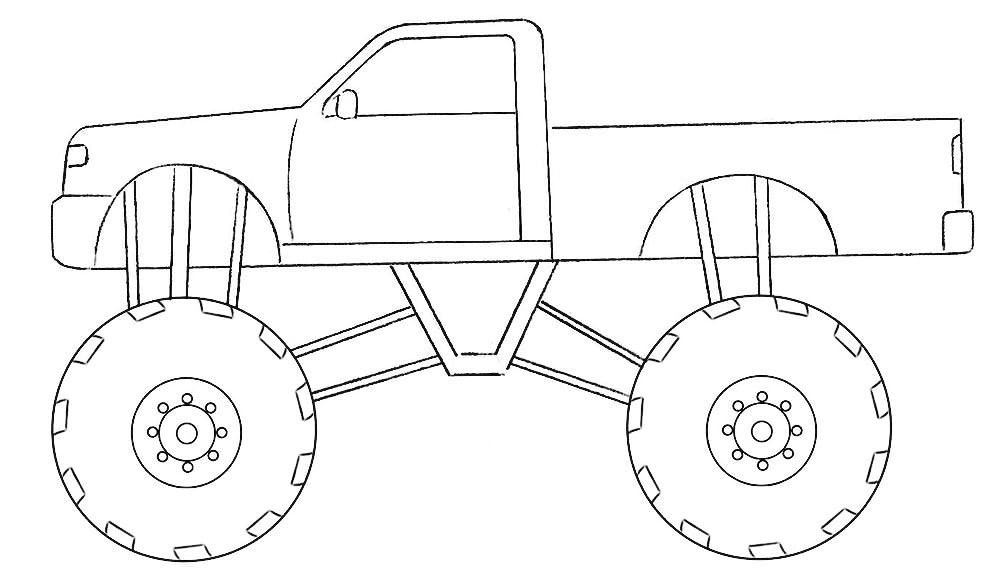 Simple Monster Truck Coloring Page Coloringpagez Com In 2020 Monster Truck Coloring Pages Truck Coloring Pages Monster Trucks