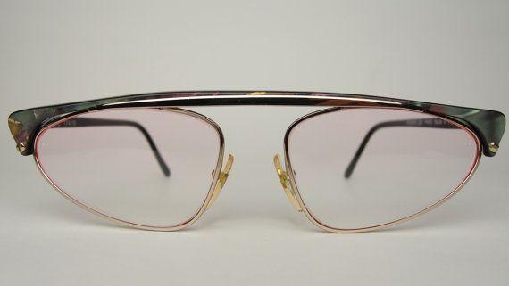 8619e18bfd1e52 Vintage Yves Saint Laurent YSL 174 Designer zonnebrillen optische brillen  metaal kunststof combinatie unieke Retro brillen Frames Parijs