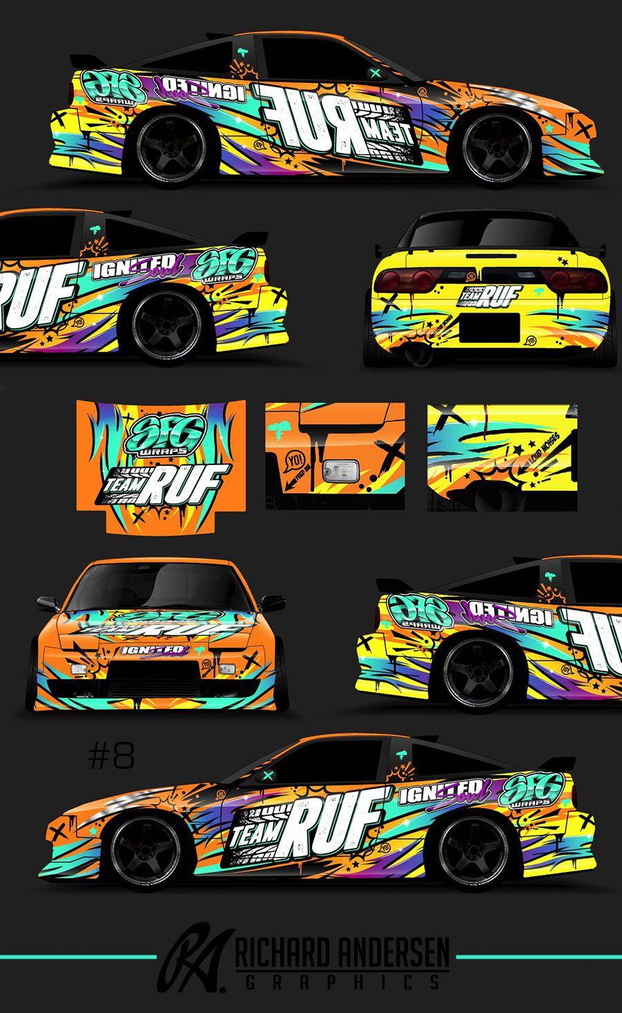 Team RUF Nissan 240z Drift-Spec livery | Car paintjob ideas