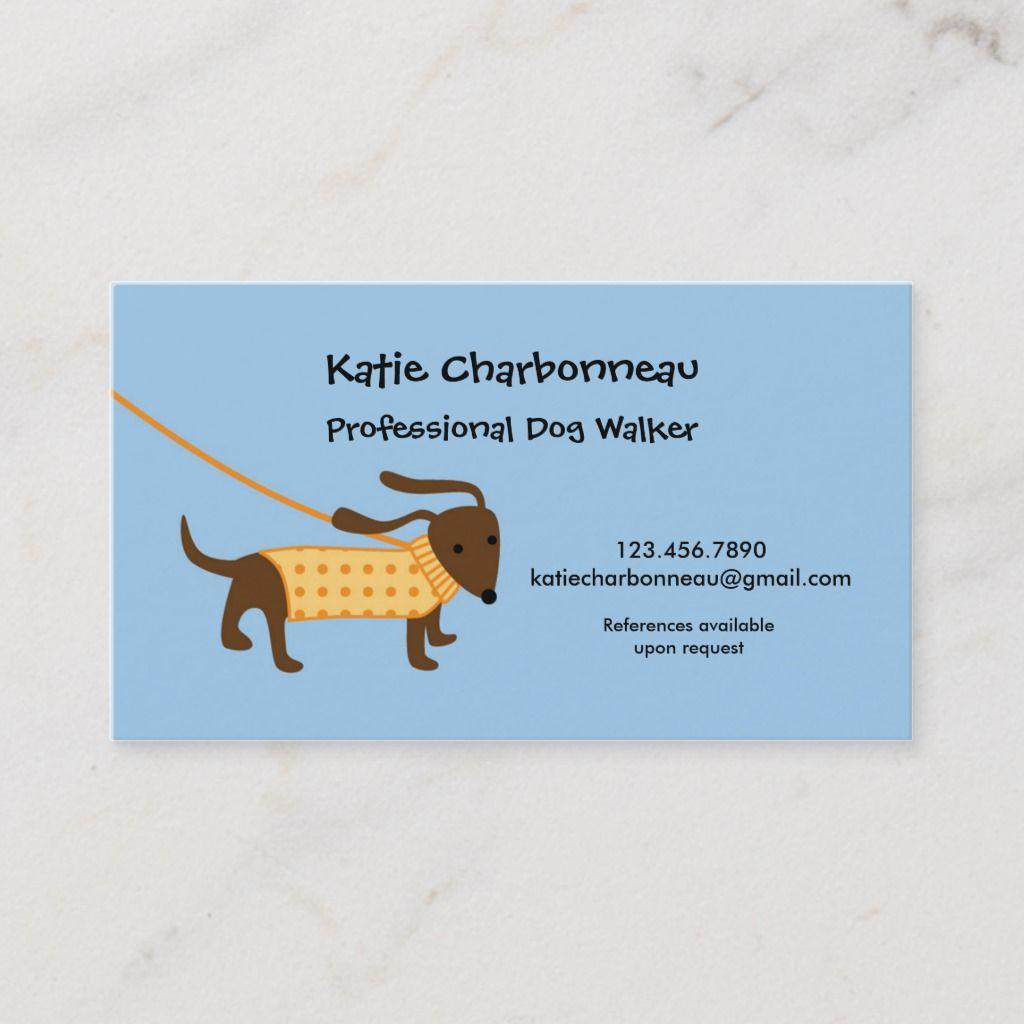 Dog Walker Business Card Zazzle Com Dog Walker Business Cards Dog Walker Business Dog Walker