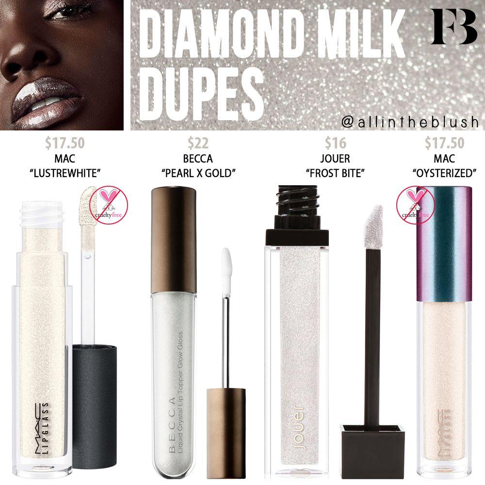 Fenty Beauty Diamond Milk Gloss Bomb Dupes Makeup dupes