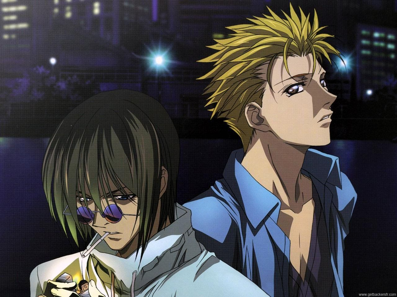 Ban Midou and Ginji Amano from Get Backers. This is the ...