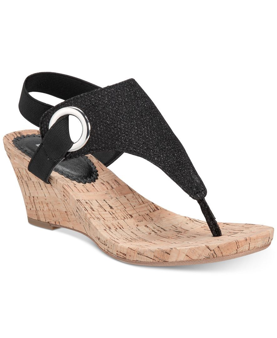 White Mountain Aida Cork Wrapped Wedge Sandals In 2019